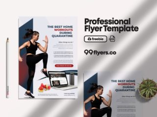 Online Personal Training Free PSD Flyer Template