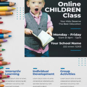 Online Learning Free PSD Flyer Template