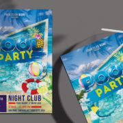 Pool Event Free PSD Flyer Template