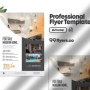 Real Estate Flyer Freebie PSD Template
