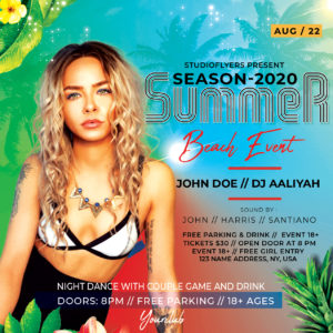 Beach Event Free PSD Flyer Template