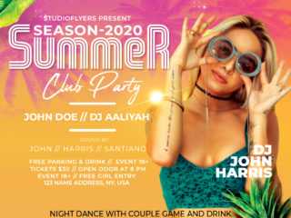 Tropical Event Party Free PSD Flyer Template