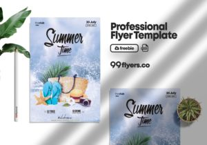 Summer Time Event Free PSD Template