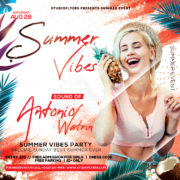 Tropical Vibes Flyer Free PSD Template