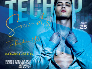 Techno Event Party Free PSD Flyer Template