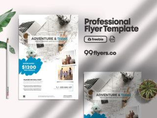 Adventure Travel Flyer Free PSD Template