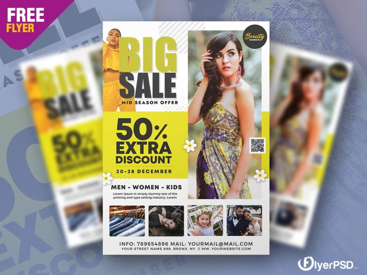Big Sale Seasonal Free PSD Flyer Template