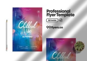 Chillout Vibe Freebie PSD Flyer Template