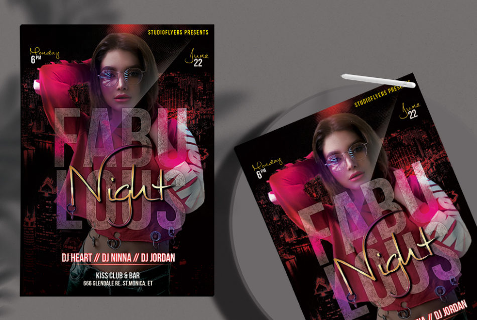 Club Night Flyer Freebie PSD Template