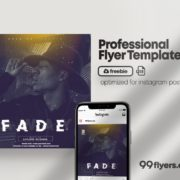 Fade Event Free PSD Flyer Template