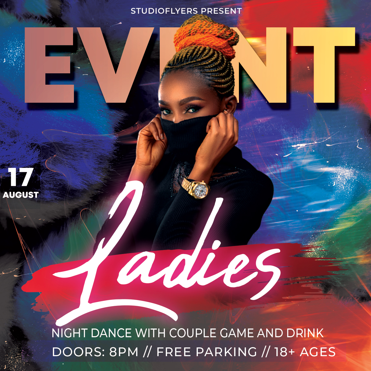 Club Ladies Party Free PSD Flyer Template