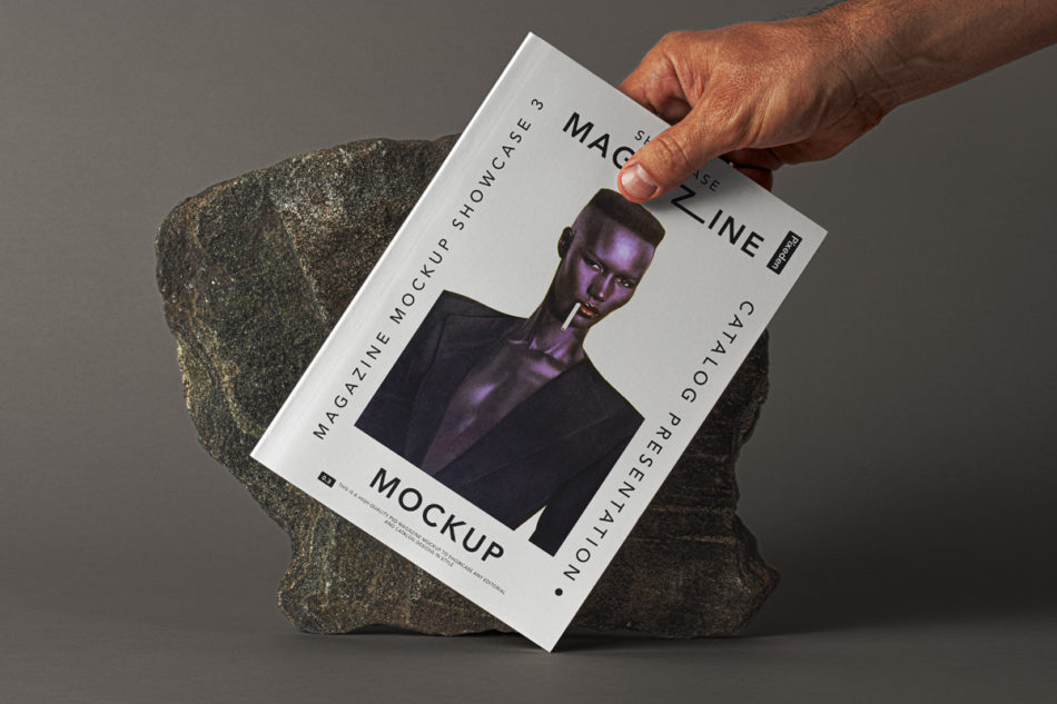 Magazine Showcase Free PSD Mockup