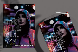 Night Event Flyer Free PSD Template