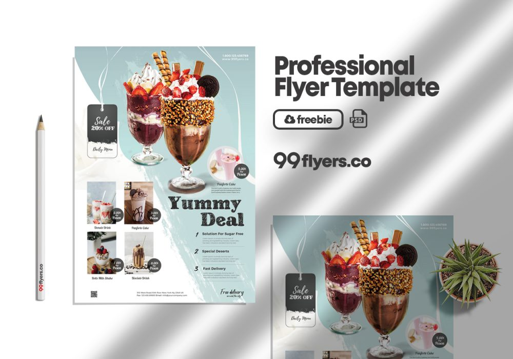 Promotion Flyer Free PSD Template