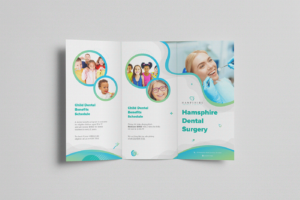 Realistic Trifold Brochure Free PSD Mockup