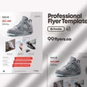 Shoes Sale Freebie PSD Flyer Template