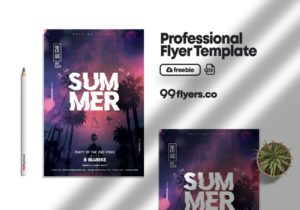 Summer Night Party Freebie PSD Flyer Template