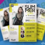 Summer Sale Fashion Free PSD Flyer Template
