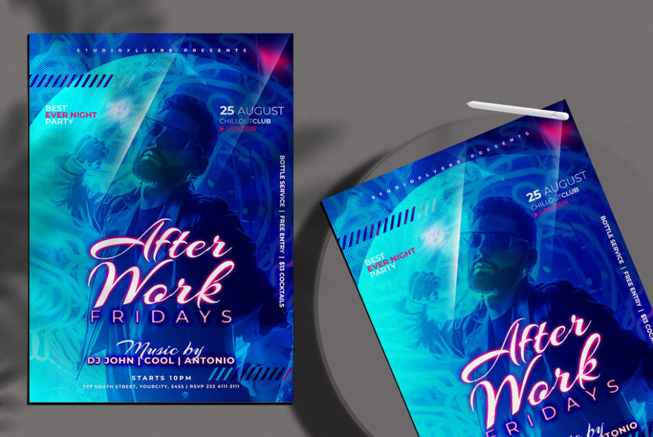 After Work Event Free PSD Flyer Template