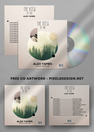 Alex Album Free Mixtape CD Album PSD Template