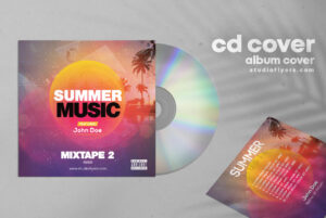 Beach Music Free Mixtape PSD Cover Artwork