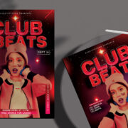 Beats Night Event Free PSD Flyer Template