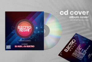 Electro Beat Free CD Cover PSD Template