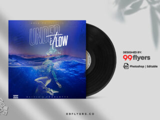 Flow Music CD Cover Free PSD Template