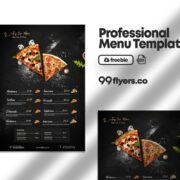 Free Food Menu Flyer PSD Template