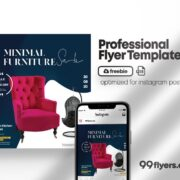 Free Furniture Flyer PSD Template