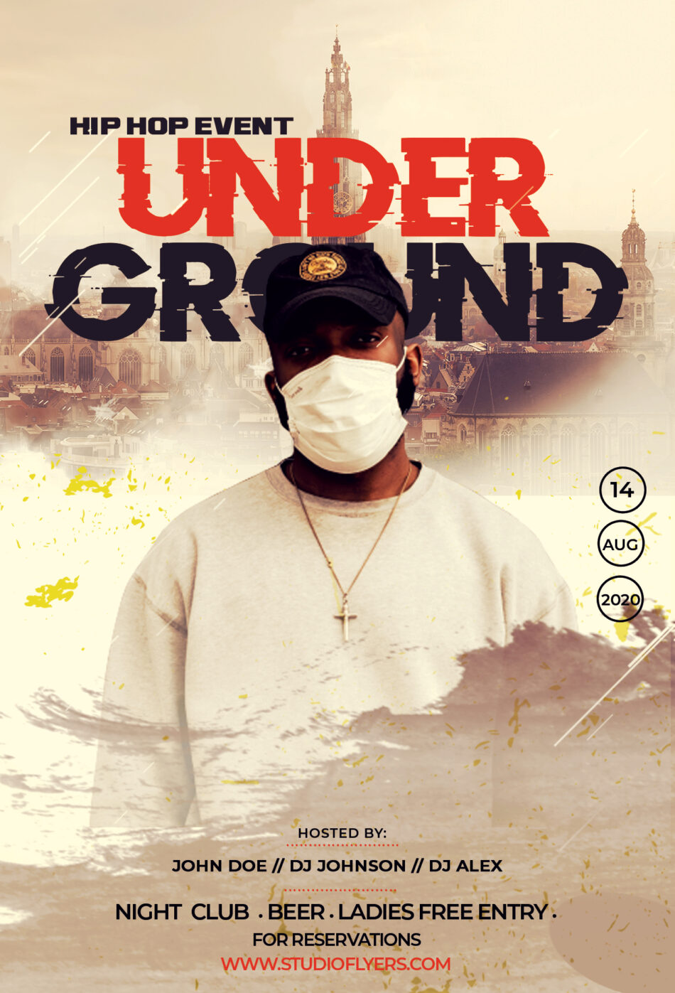 Hip Hop Under Ground Flyer Free PSD Template
