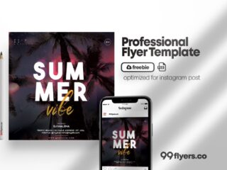 Free Summer Vibe Flyer PSD Template