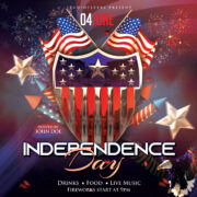 Independence Day Event Free PSD Flyer Template