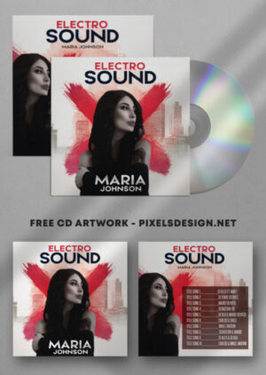 Maria Cd Cover Free Artwork PSD Template