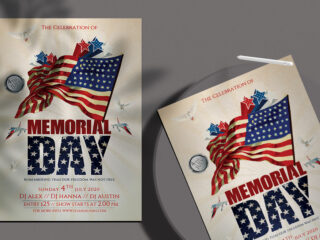 Memorial Event Day – Free PSD Flyer Template