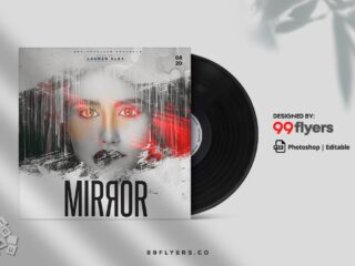 Mirror Dj Music Free CD Cover PSD Template