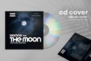 Moon CD Cover Free PSD Template