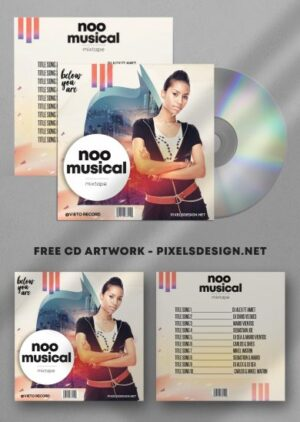 Musical Free Mixtape CD Album PSD Template