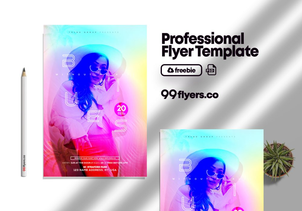 Party Time - Free PSD Flyer Template