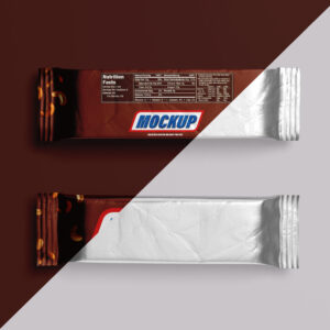 Snack Chocolate Bar Mockup Free PSD Template