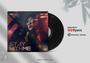 Stay Mixtape CD Cover Free PSD Template