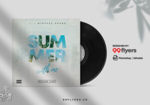 Summer CD Cover Free PSD Template