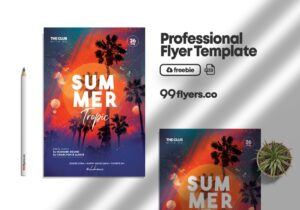 Summer Event - Free PSD Template