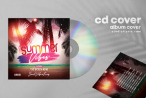 Summer Vibe Mixtape Free PSD Cover Album