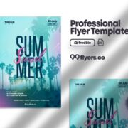 Sunset Summer Event Free PSD Flyer Template