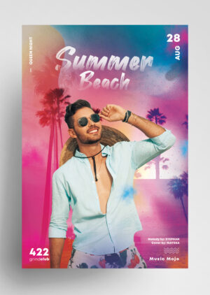 Beach Event Freebie PSD Flyer Template