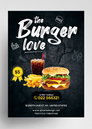 Best Food Free Restaurant PSD Flyer Template