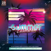 Tropical Event Flyer Free PSD Template