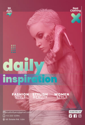 Inspiration Fashion Free PSD Flyer Template