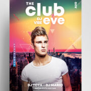 Eve Dj Party Free PSD Flyer Template